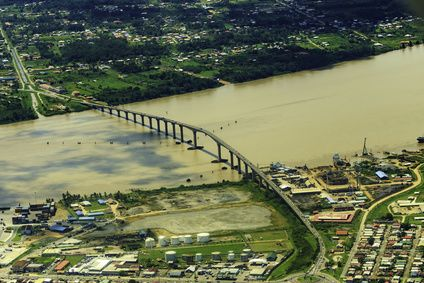 Paramaribo by air