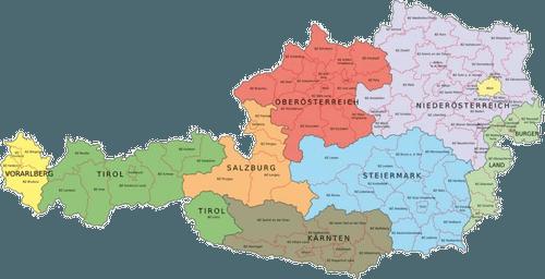 kaart-oostenrijk