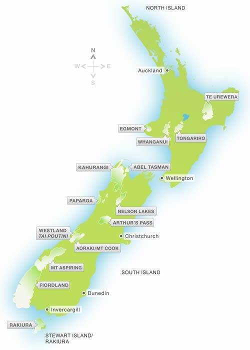 Natuur toppers Nieuw Zeeland