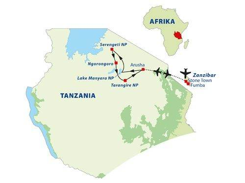 Kaart Zanzibar