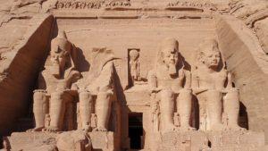 Tempels in Abu Simbel Egypte