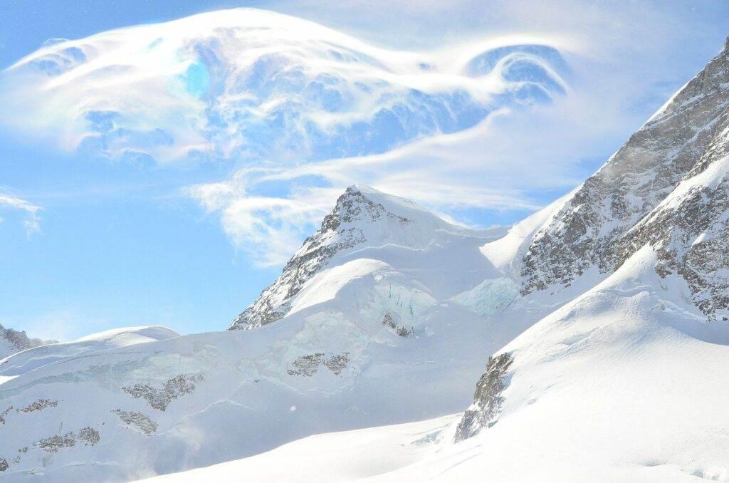 Sneeuwzekerheid in Grindelwald in Zwitserland